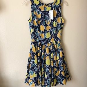 NWT Maison Jules lemon citrus cocktail dress